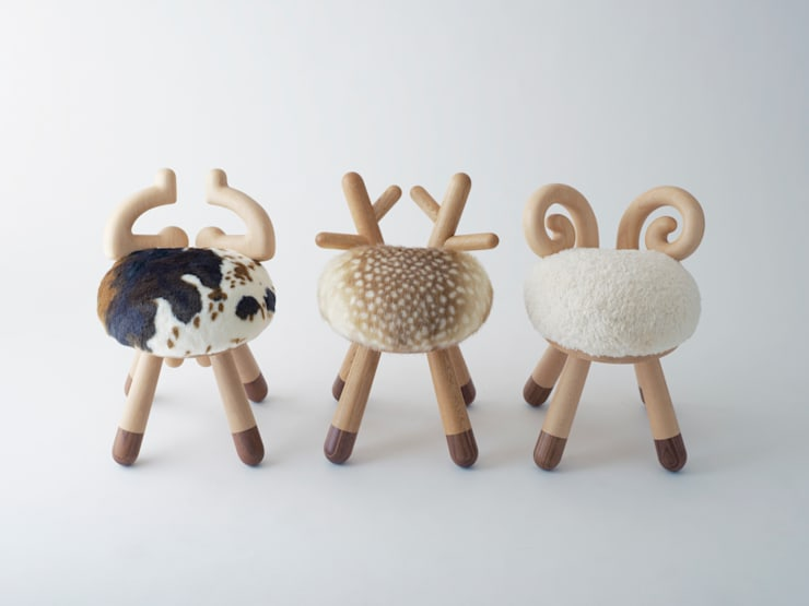 bambi chair / sheep chair / cow chair: kamina&Cが手掛けた子供部屋です。