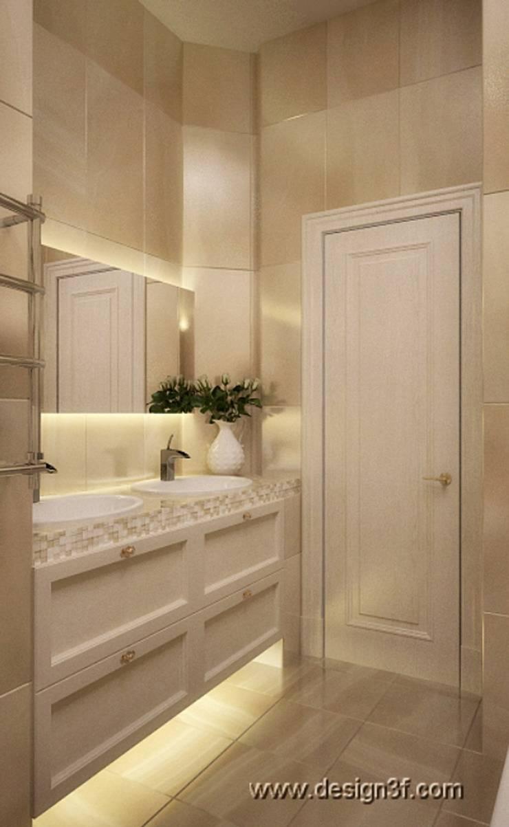 ванная: Ванные комнаты в . Автор – студия Design3F,