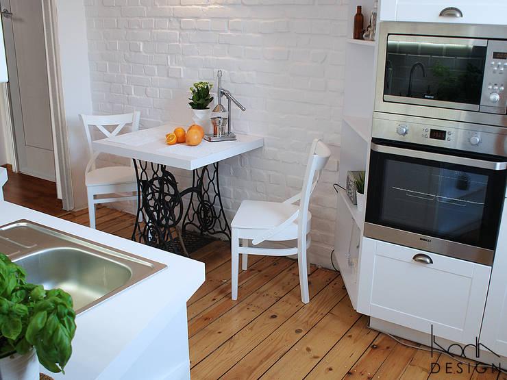 Biala Kuchnia W Stylu Skandynawskim By Studio Projektowe Koda Design