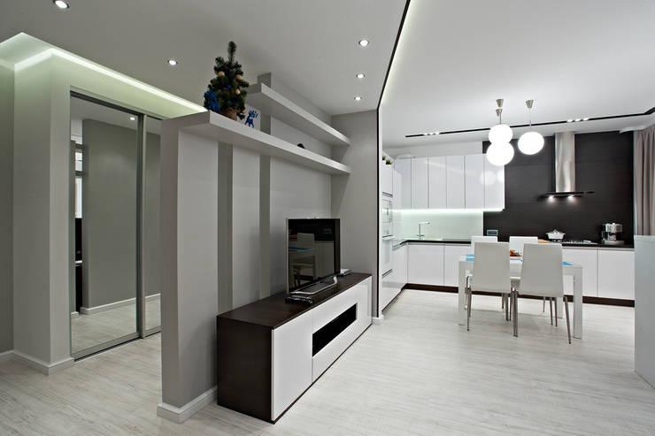 Современная квартира в скандинавском стиле:  в . Автор – Shop of the interiors, design studio,