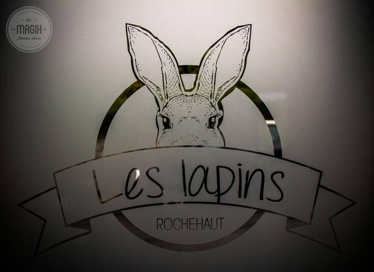 Gîte <q>Les lapins</q>: Maisons de style  par DONATIENNE PARISSE architecte d'intérieur