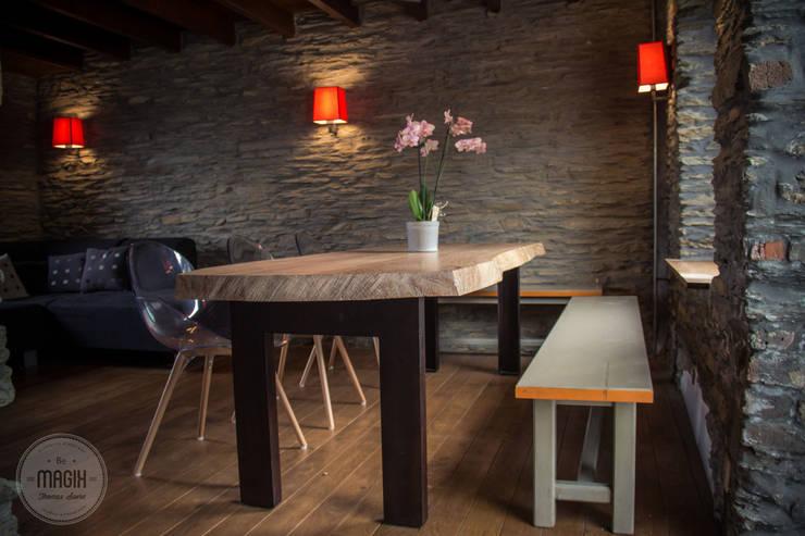 Gîte <q>Les lapins</q>: Salle à manger de style  par DONATIENNE PARISSE architecte d'intérieur