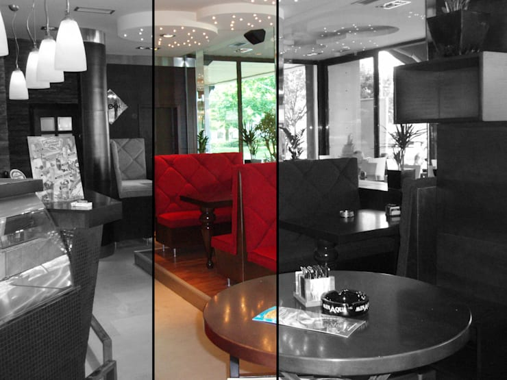 Bar/caffé/Lounge con il giardino d'inverno: Gastronomia in stile  di Studio d'arte e architettura Ana D'Apuzzo, Moderno