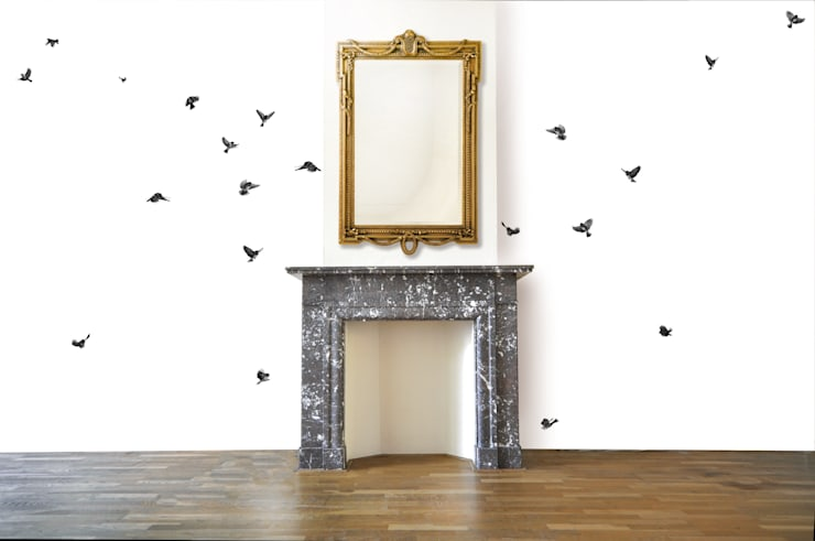 Wallpaper Sparrow:  Muren door Snijder&CO