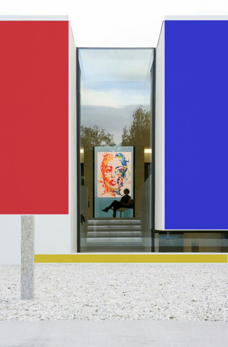 Edificio residenziale : Studio in stile  di Studio d'arte e architettura Ana D'Apuzzo,