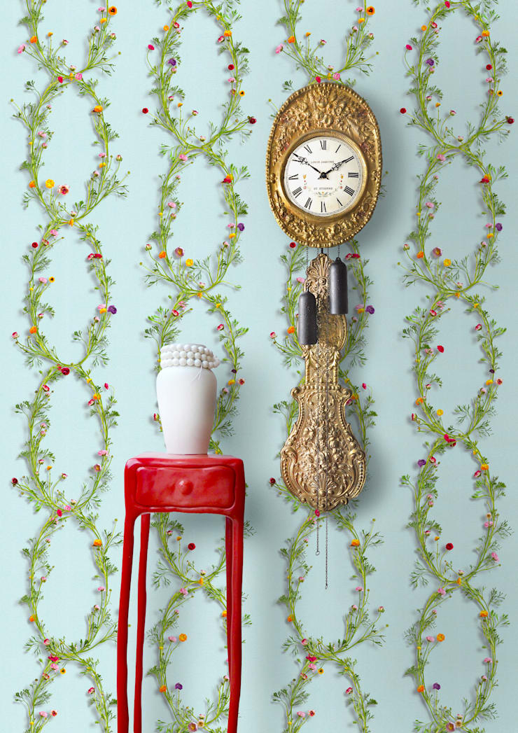 Wallpaper Ranunculus Blue van Snijder&CO Landelijk