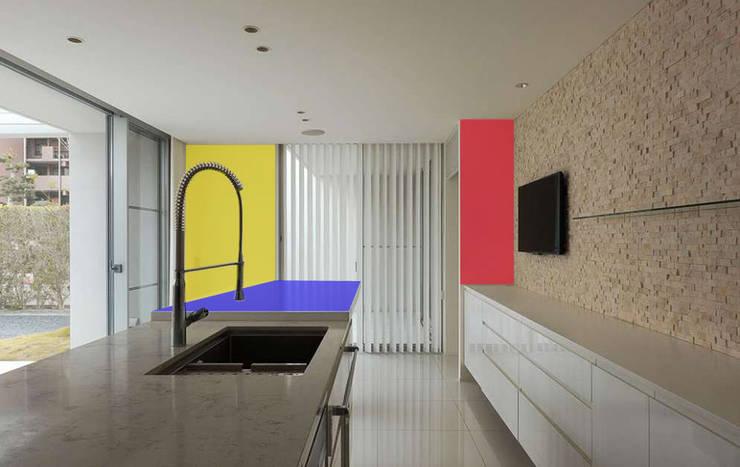 Edificio residenziale: Cucina in stile  di Studio d'arte e architettura Ana D'Apuzzo,