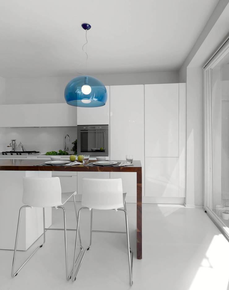 RIQUALIFICAZIONE DI UN LOTTO GOTICO: Cucina in stile  di STUDIO DI ARCHITETTURA LUISELLA PREMOLI, Minimalista