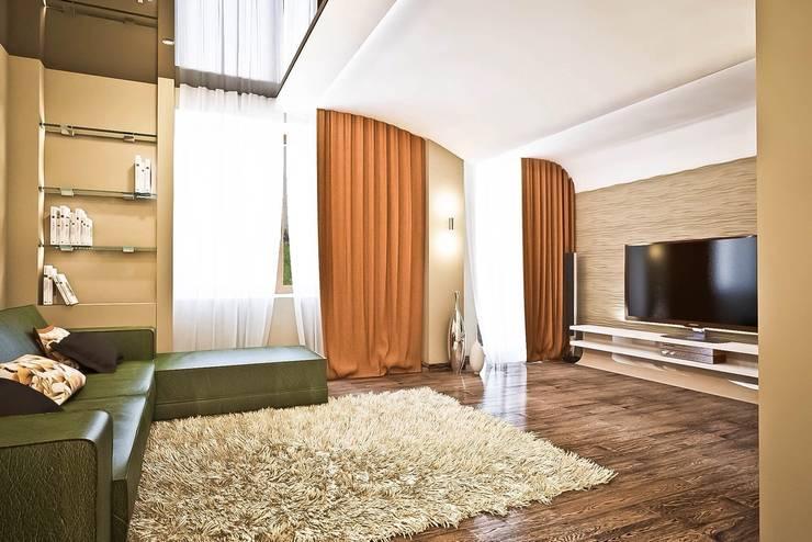 Яркие акценты современных квартир: Гостиная в . Автор – STONE design,