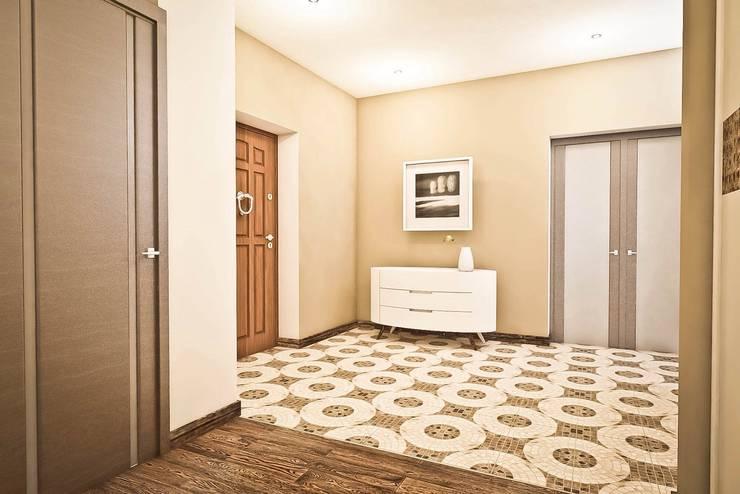 Яркие акценты современных квартир: Коридор и прихожая в . Автор – STONE design,