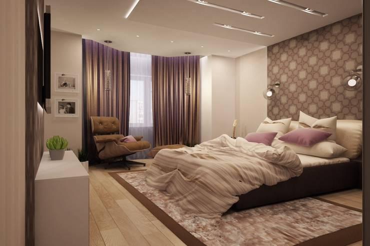 Простота и функциональность современного жилья: Спальни в . Автор – Ksana Shkinch Architect