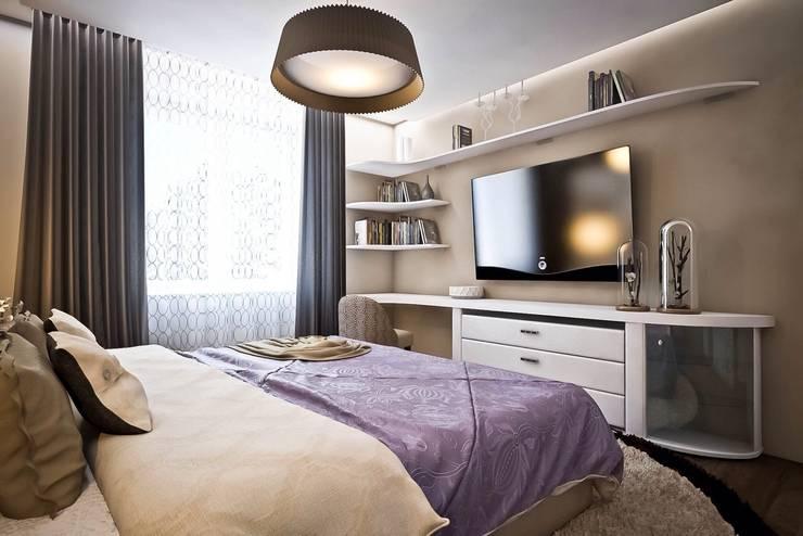 Яркие акценты современных квартир: Спальни в . Автор – STONE design,