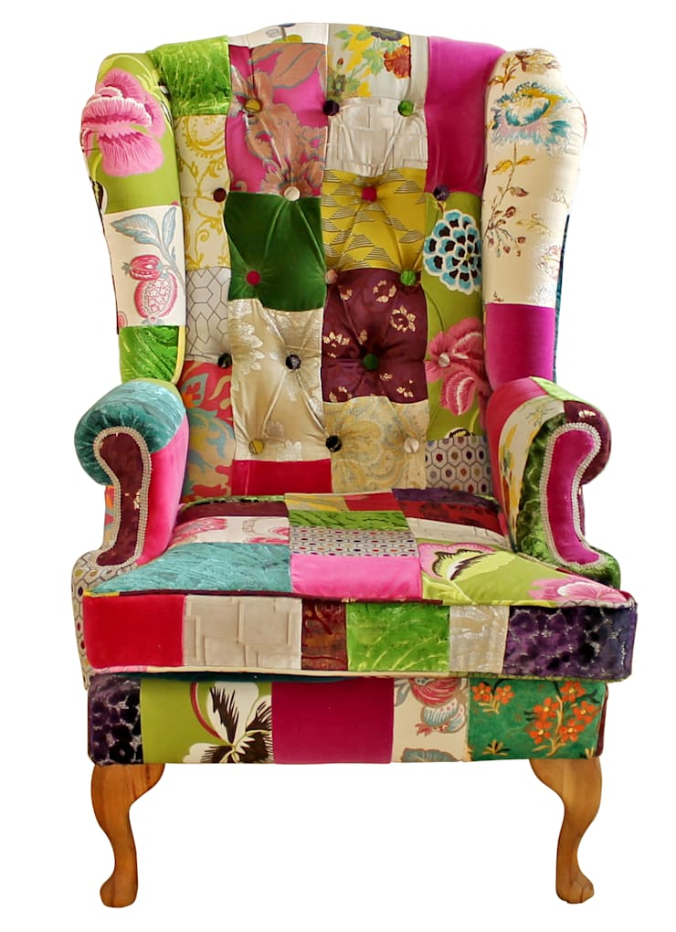 Emerald Wing Chair - Made to Order:  Living room by Kelly Swallow