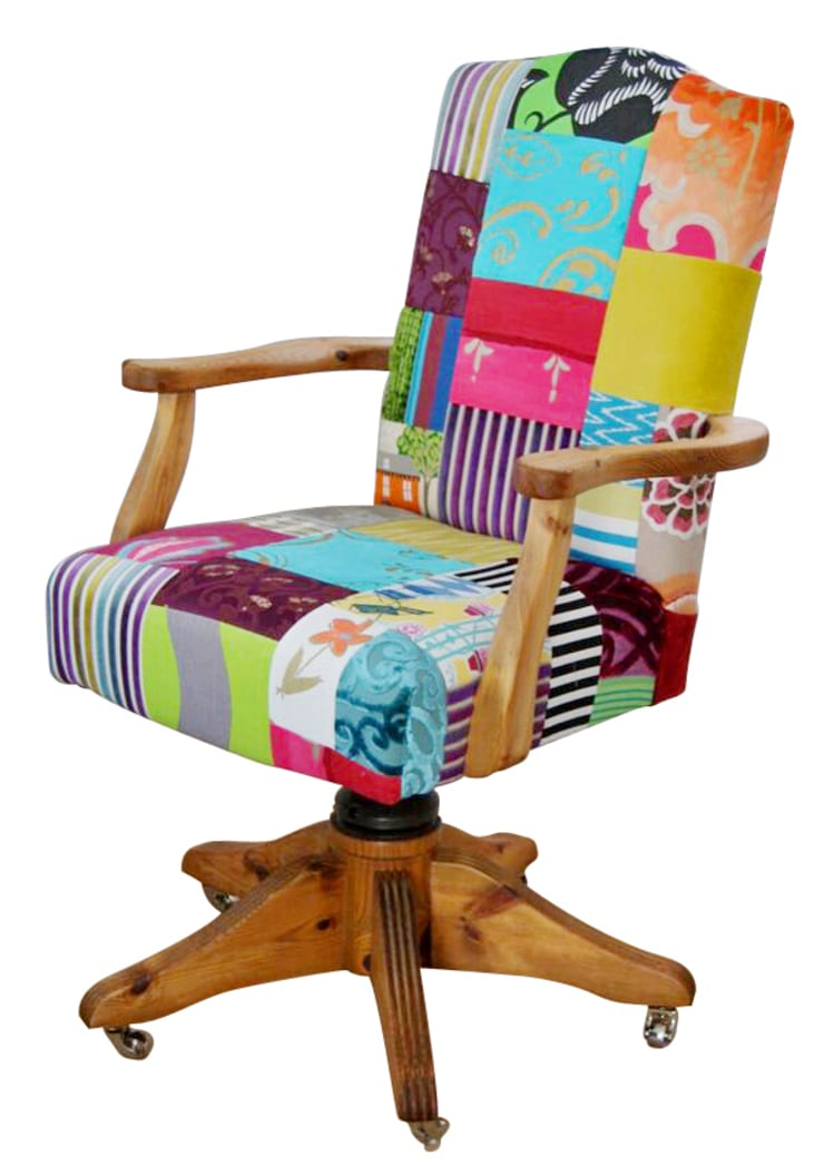 'Ready to Go' patchwork chairs available for sale at http://www.kellyswallow.com/products/:  Office spaces & stores  by Kelly Swallow