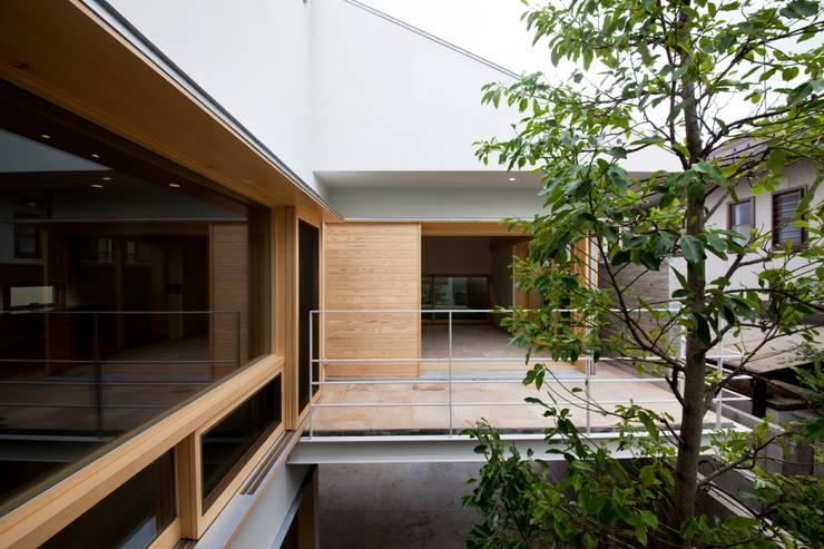 中庭とシンボルツリー: 根岸達己建築室が手掛けた庭です。,