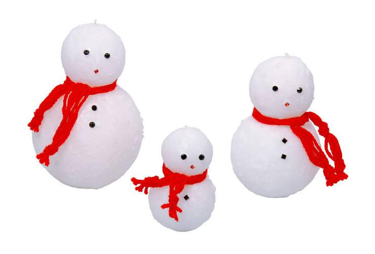 Tay Mum – Kardanadam mumlar / Snowman candles:  tarz
