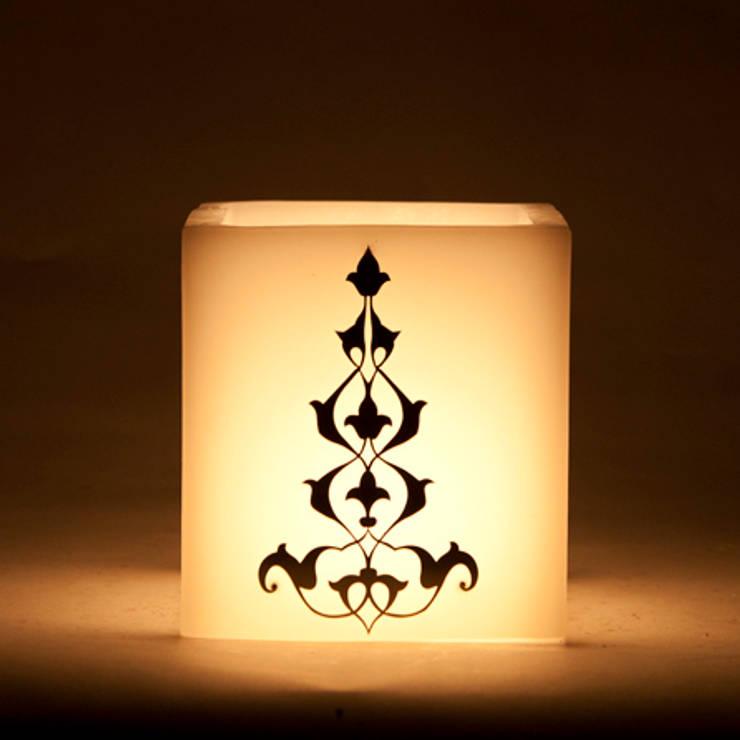 Tay Mum – Metalli Fener / Ottoman Metallic Design Lantern:  tarz İç Dekorasyon