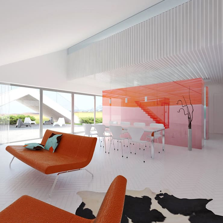 Dom Brda'12: styl , w kategorii Salon zaprojektowany przez doomo,Nowoczesny