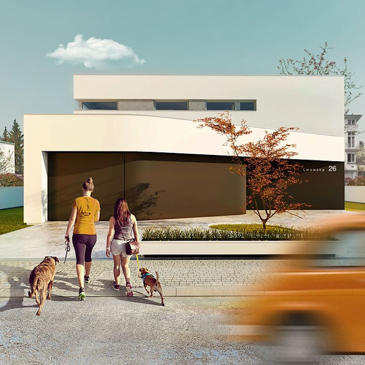 Dom miejski: styl , w kategorii Domy zaprojektowany przez doomo