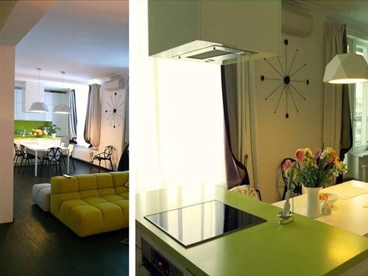 Интерьер квартиры на ул. Кирочная, Санкт-Петербург: Кухни в . Автор – Архитектурное бюро Борщ