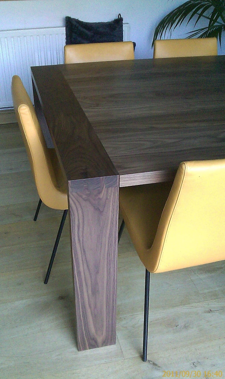 Dining Table in Solid American Black Walnut:  Dining room by Future Antiques