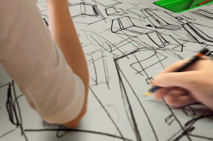 Foglio Castelli: Studio in stile  di tommaso ceschi