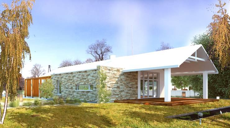 Dom Energooszczędny: styl , w kategorii  zaprojektowany przez WW Studio Architektoniczne