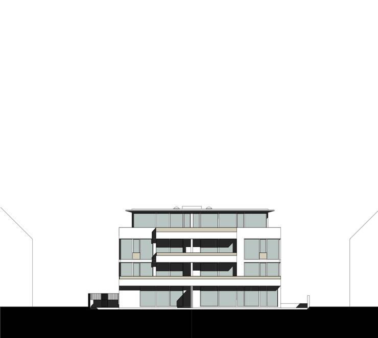 ansicht gartenfassade _ westen:   von beissel schmidt architekten,