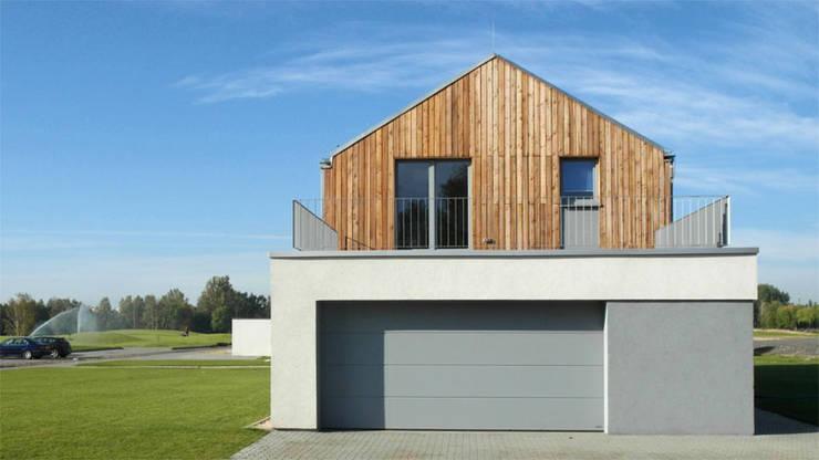 Osiedle Srebrne Stawy - dom typ B: styl , w kategorii Domy zaprojektowany przez j.krysiak,Nowoczesny