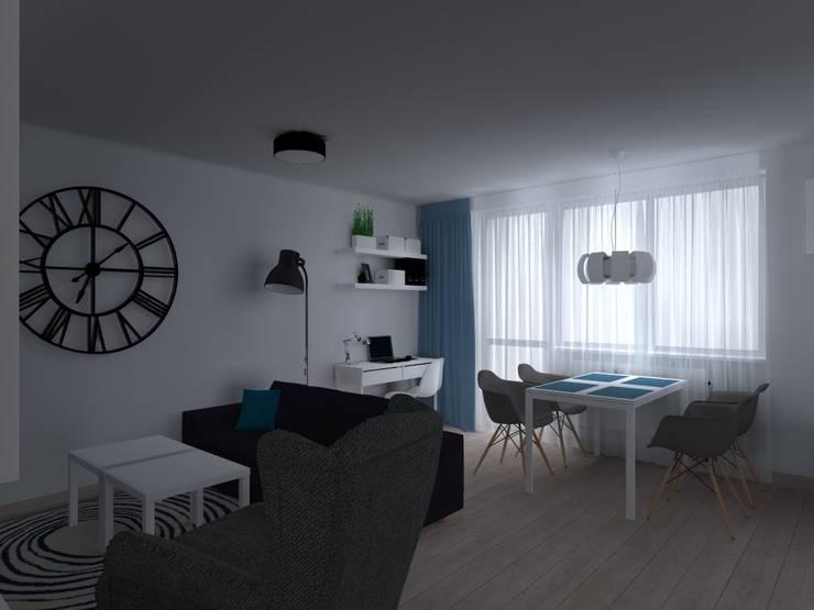 salon: styl , w kategorii Salon zaprojektowany przez ap. studio architektoniczne Aurelia Palczewska-Dreszler