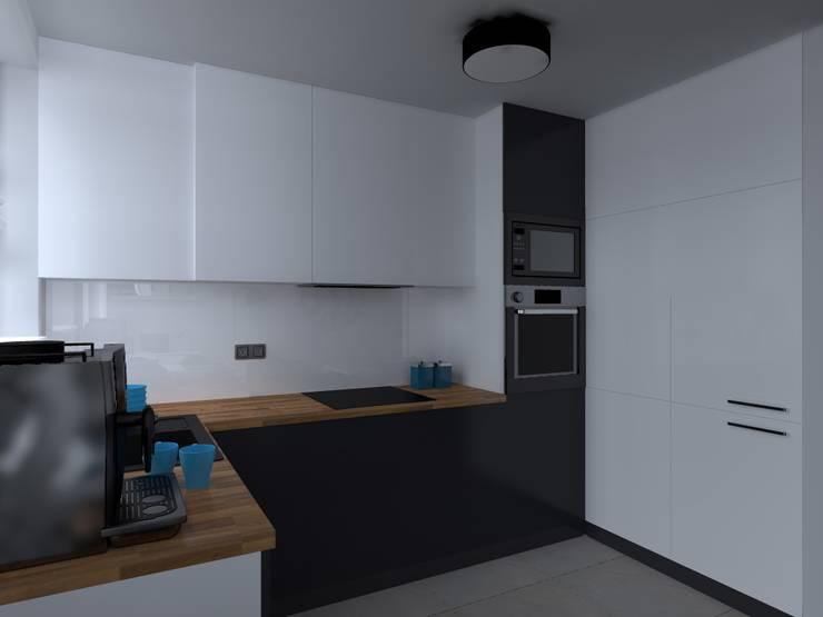 kuchnia: styl , w kategorii Kuchnia zaprojektowany przez ap. studio architektoniczne Aurelia Palczewska-Dreszler