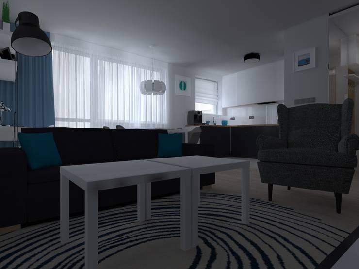 mieszkanie w Kwidzynie: styl , w kategorii Salon zaprojektowany przez ap. studio architektoniczne Aurelia Palczewska-Dreszler