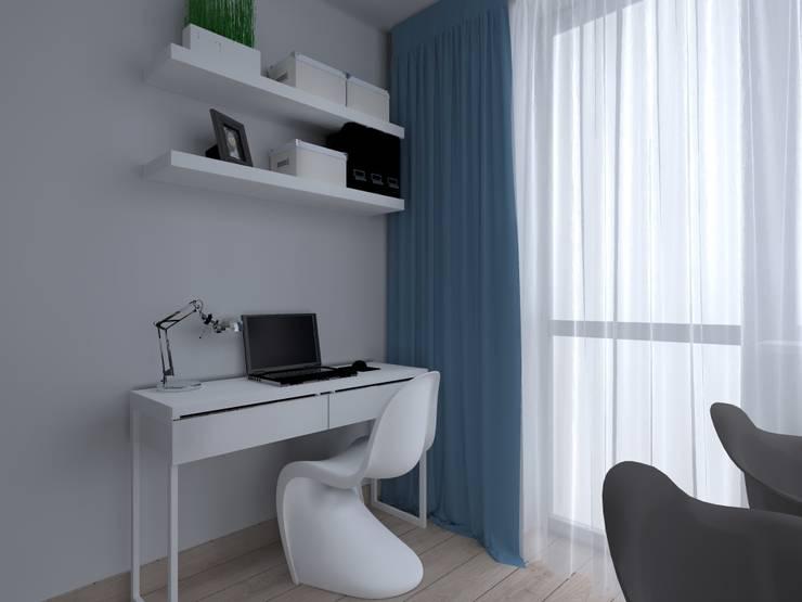 mieszkanie w Kwidzynie: styl , w kategorii Domowe biuro i gabinet zaprojektowany przez ap. studio architektoniczne Aurelia Palczewska-Dreszler