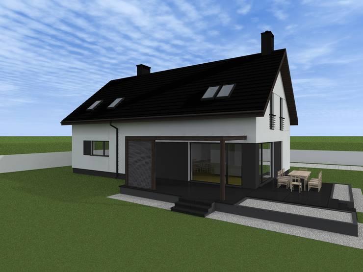 minimalistyczna elewacja w Nowym Dworze Gdańskim: styl minimalistyczne, w kategorii Domy zaprojektowany przez ap. studio architektoniczne Aurelia Palczewska-Dreszler