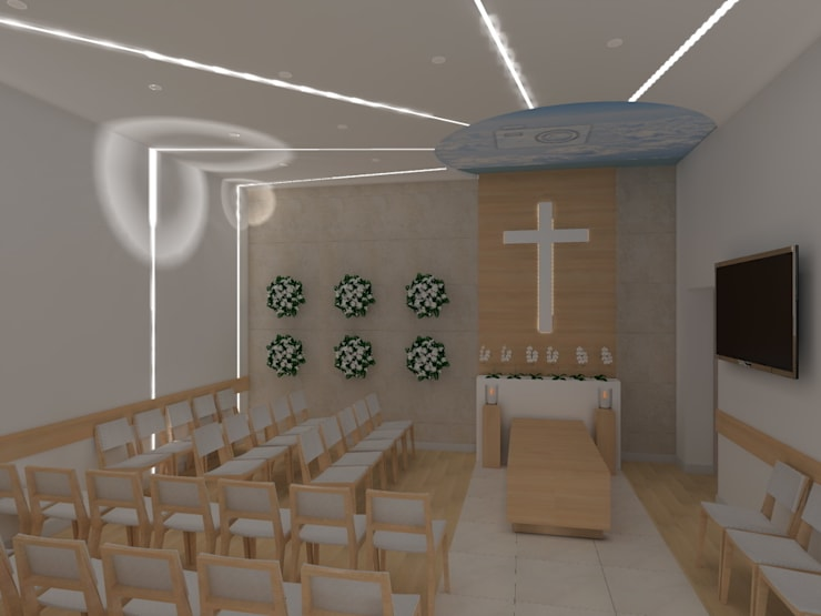 dom pogrzebowy: styl , w kategorii Szpitale zaprojektowany przez ap. studio architektoniczne Aurelia Palczewska-Dreszler,Minimalistyczny