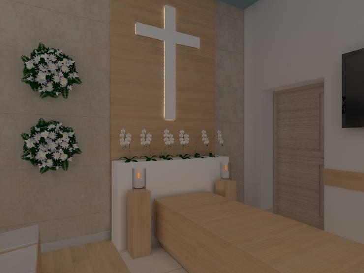 kaplica pogrzebowa w Ostródzie: styl , w kategorii Szpitale zaprojektowany przez ap. studio architektoniczne Aurelia Palczewska-Dreszler,Minimalistyczny