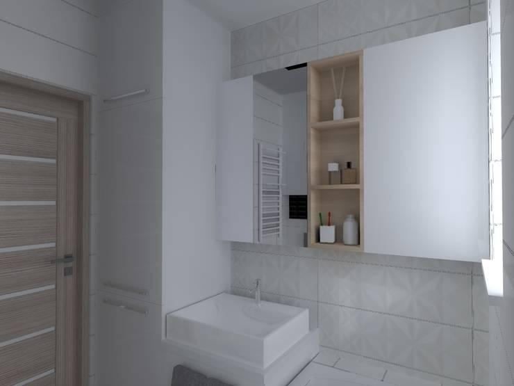mieszkanie w Iławie: styl , w kategorii Łazienka zaprojektowany przez ap. studio architektoniczne Aurelia Palczewska-Dreszler