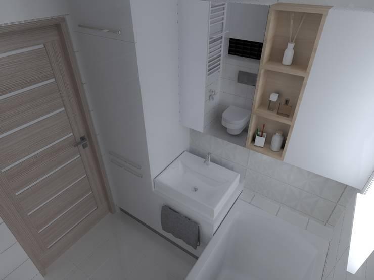 mieszkanie w Iławie: styl , w kategorii Łazienka zaprojektowany przez ap. studio architektoniczne Aurelia Palczewska-Dreszler,Skandynawski