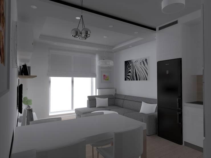 mieszkanie w Iławie: styl , w kategorii Salon zaprojektowany przez ap. studio architektoniczne Aurelia Palczewska-Dreszler