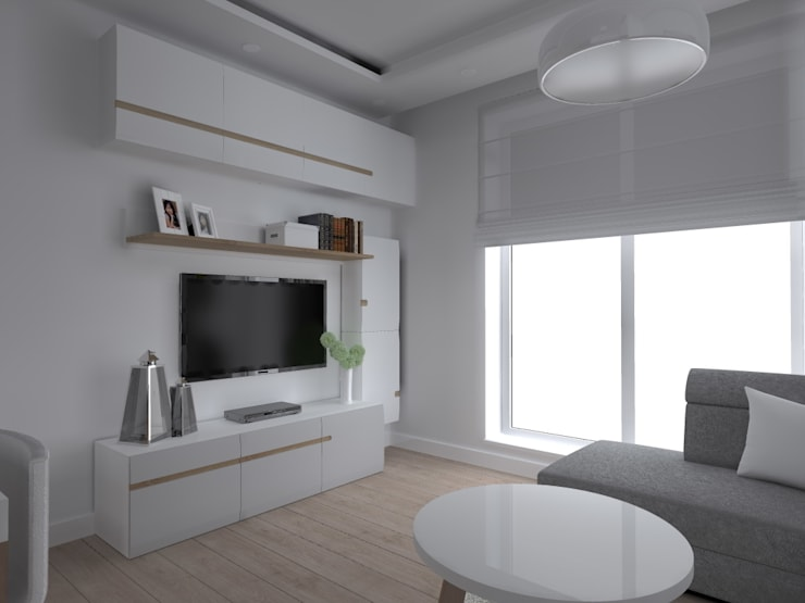 mieszkanie w Iławie: styl , w kategorii Salon zaprojektowany przez ap. studio architektoniczne Aurelia Palczewska-Dreszler,Skandynawski