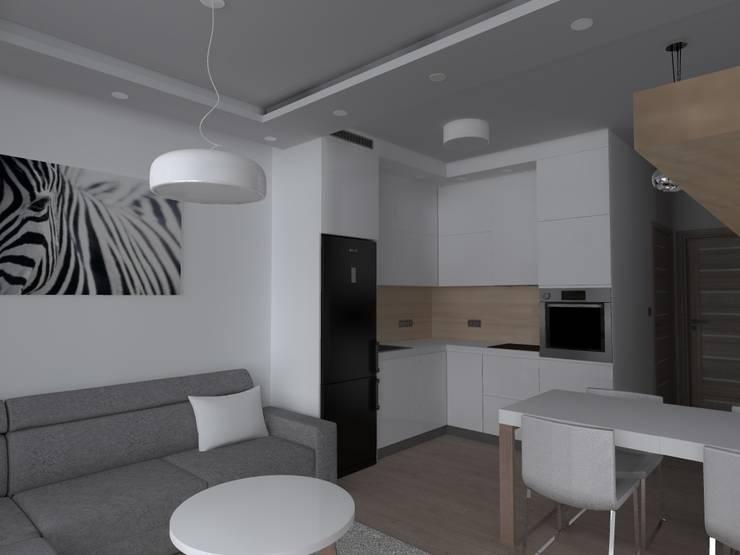 mieszkanie w Iławie: styl , w kategorii Kuchnia zaprojektowany przez ap. studio architektoniczne Aurelia Palczewska-Dreszler,Skandynawski