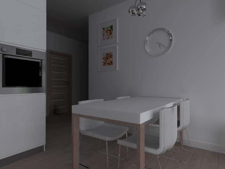 mieszkanie w Iławie: styl , w kategorii Jadalnia zaprojektowany przez ap. studio architektoniczne Aurelia Palczewska-Dreszler,Skandynawski