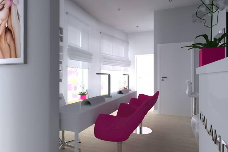salon kosmetyczny: styl , w kategorii Kliniki zaprojektowany przez ap. studio architektoniczne Aurelia Palczewska-Dreszler