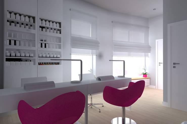 salon kosmetyczny w Iławie: styl , w kategorii Kliniki zaprojektowany przez ap. studio architektoniczne Aurelia Palczewska-Dreszler