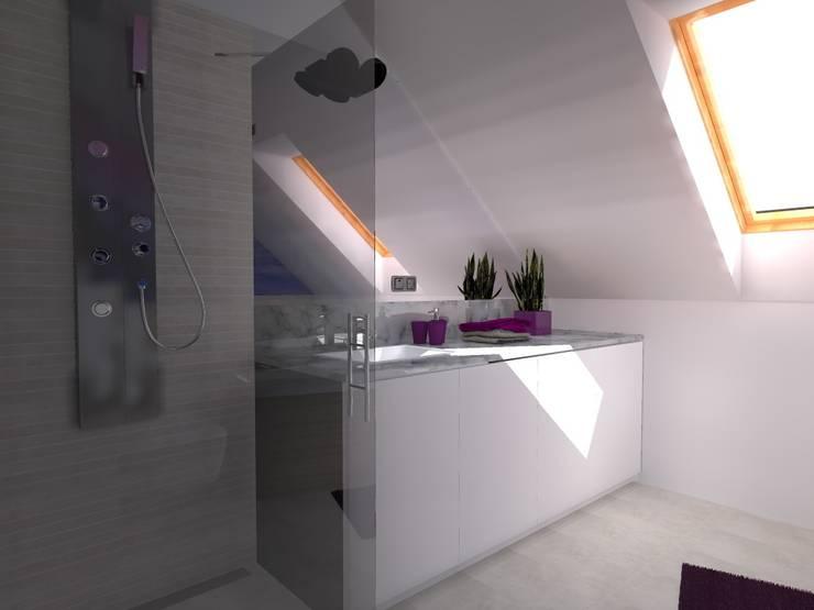 dom koło Olsztyna: styl , w kategorii Łazienka zaprojektowany przez ap. studio architektoniczne Aurelia Palczewska-Dreszler