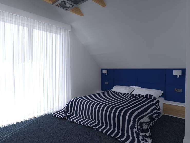 dom koło Olsztyna: styl , w kategorii Sypialnia zaprojektowany przez ap. studio architektoniczne Aurelia Palczewska-Dreszler