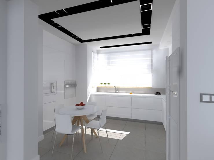 dom koło Olsztyna: styl , w kategorii Kuchnia zaprojektowany przez ap. studio architektoniczne Aurelia Palczewska-Dreszler