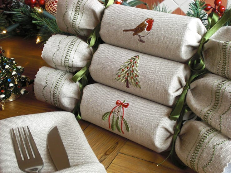 Woodland Reusable Christmas Crackers:  Household by Kate Sproston Design