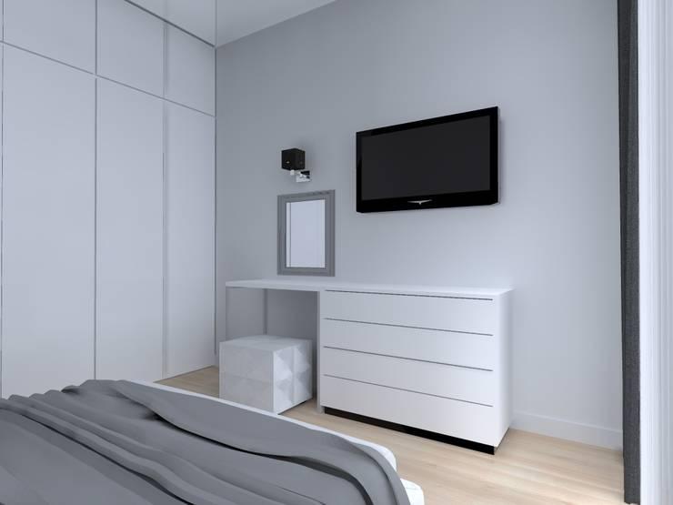 mieszkanie w Działdowie: styl , w kategorii Sypialnia zaprojektowany przez ap. studio architektoniczne Aurelia Palczewska-Dreszler