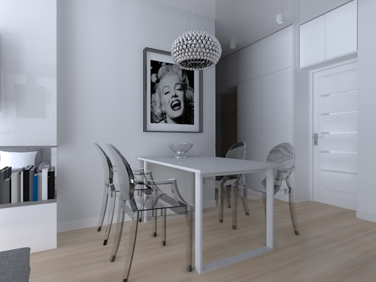 mieszkanie w Działdowie: styl , w kategorii Jadalnia zaprojektowany przez ap. studio architektoniczne Aurelia Palczewska-Dreszler